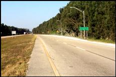 Figure 7. Four-lane section at Okeechobee Road